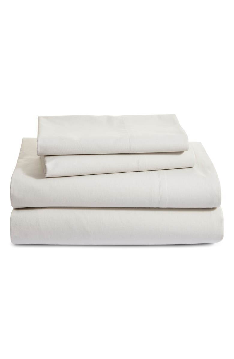 NORDSTROM at Home Percale Sheet Set, Main, color, GREY LUNAR