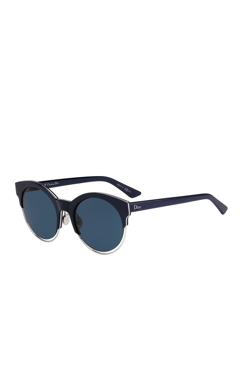 DIOR Siderall 1 53mm Round Sunglasses, Main, color, 400