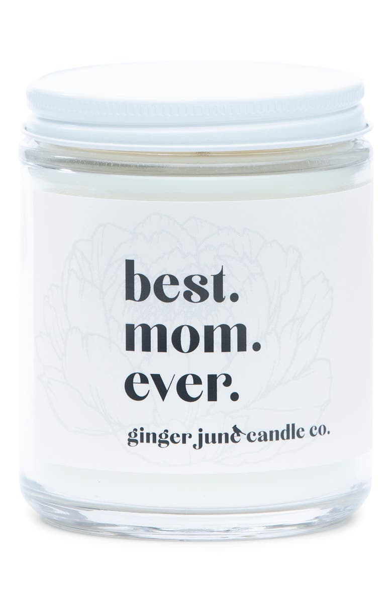 GINGER JUNE CANDLE CO. Ginger June Candle Co Best. Mom. Ever. Large Jar Candle, Main, color, MOONSHINE