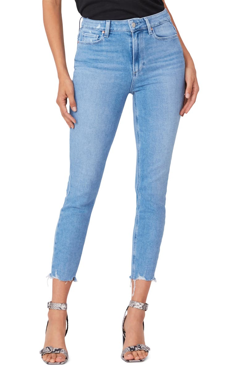 PAIGE Margot Super High Waist Crop Skinny Jeans, Main, color, LOVESONG DISTRESSED