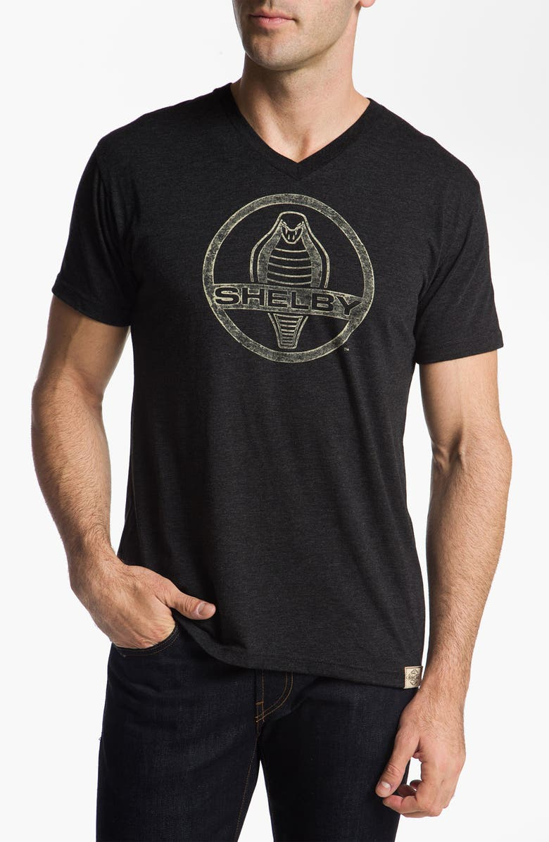 WICKED QUICK 'Shelby Icon' Graphic V-Neck T-Shirt, Main, color, VINT BLACK