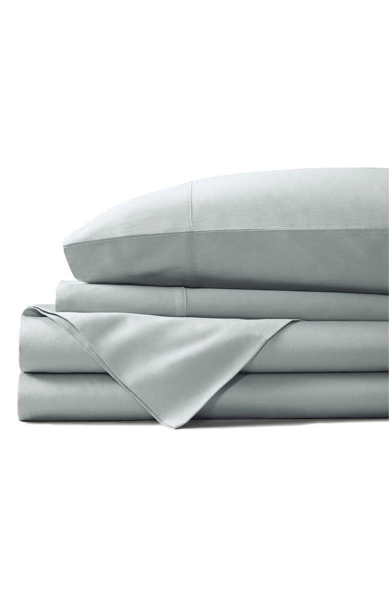 BOLL & BRANCH Classic Hemmed 300 Thread Count Organic Cotton Sheet Set, Main, color, SHORE