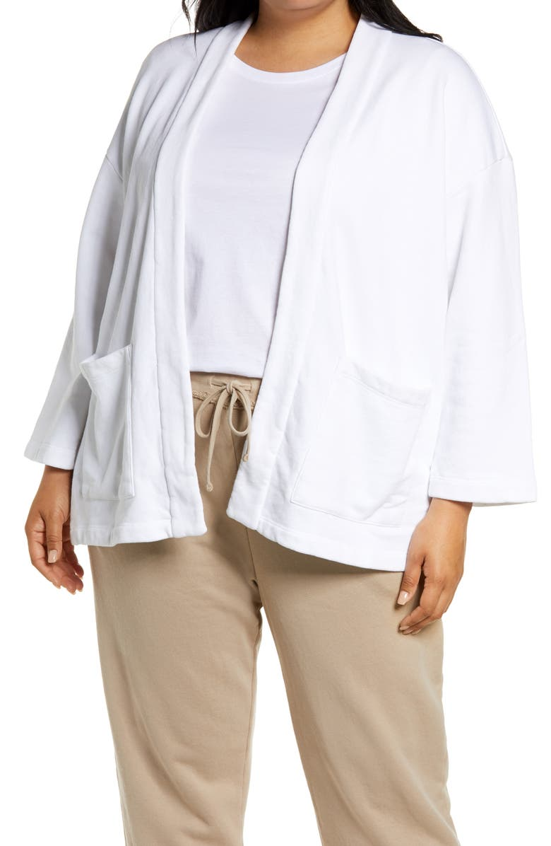EILEEN FISHER Organic Cotton Jacket, Main, color, 100
