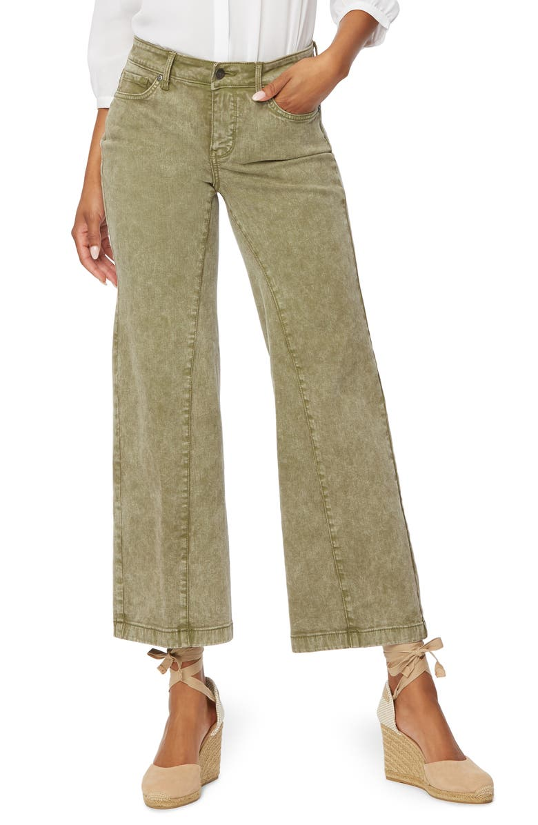 NYDJ Teresa Cropped Wide Leg Jeans, Main, color, MARISOL MOSS