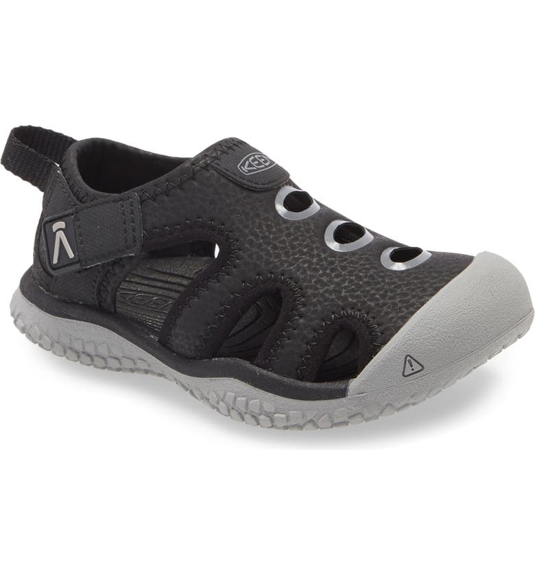 KEEN Stingray Sandal, Main, color, BLACK/ DRIZZLE