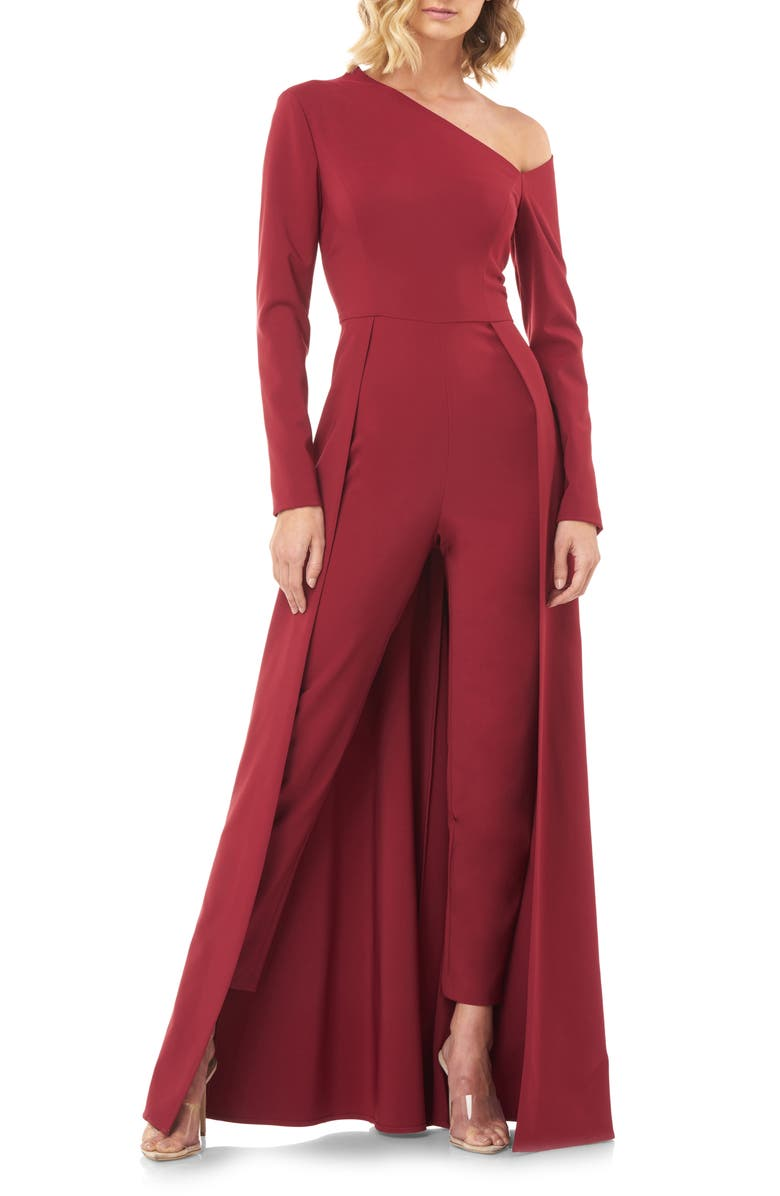 KAY UNGER One-Sleeve Maxi Romper, Main, color, 600