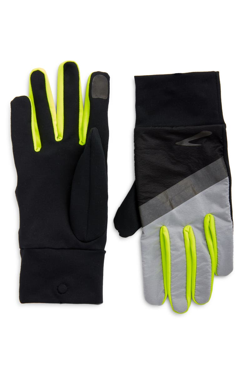 BROOKS Carbonite Running Gloves, Main, color, LUMINOSITY