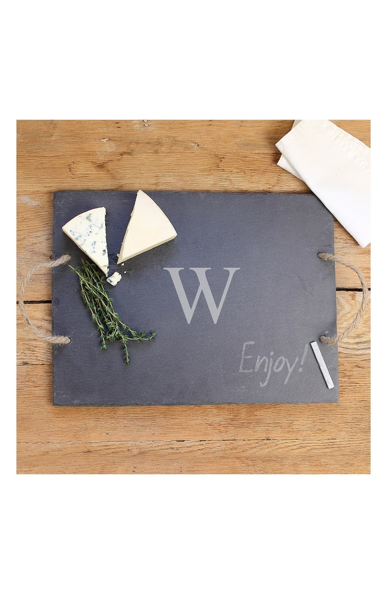 CATHY'S CONCEPTS Monogram Slate Serving Board, Main, color, 043