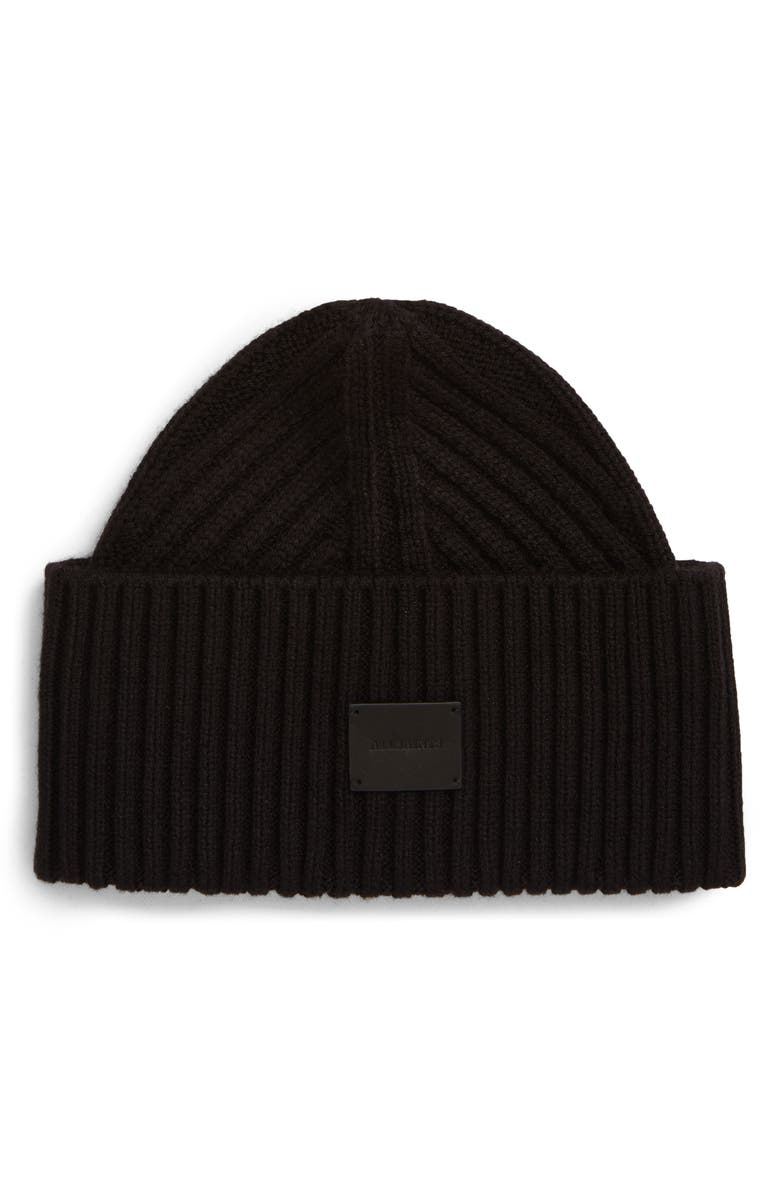 ALLSAINTS Travelling Ribbed Beanie, Main, color, 001