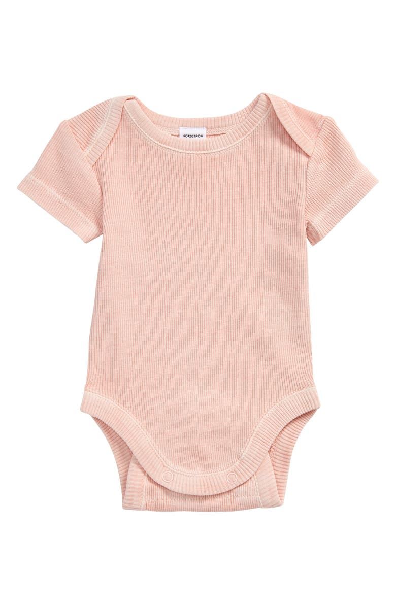 NORDSTROM Grow with Me Adjustable Bodysuit, Main, color, PINK LOTUS