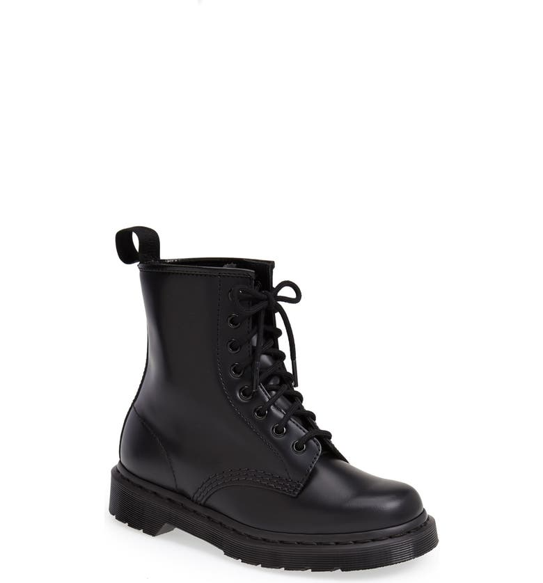 DR. MARTENS '1460 Mono' Boot, Main, color, BLACK SMOOTH