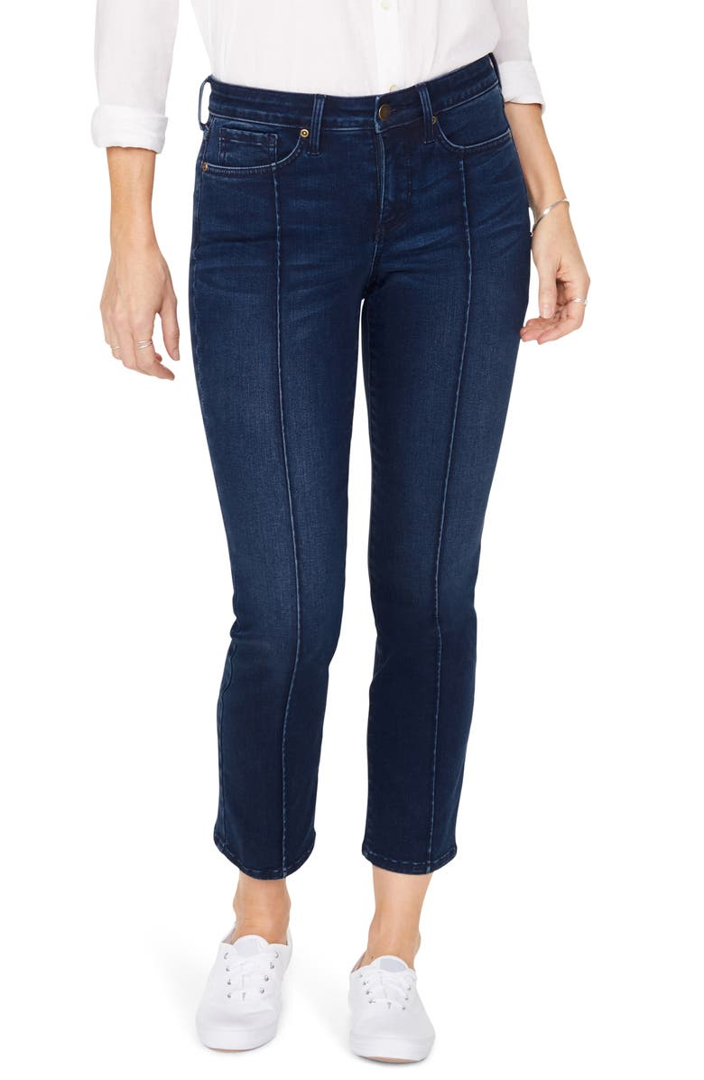 NYDJ Sheri Pintucked Stretch Ankle Jeans, Main, color, 481