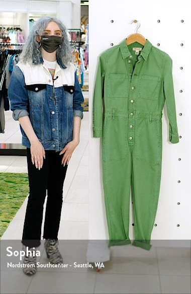 Women's Garment Dyed Relaxed Coverall Jumpsuit, sales video thumbnail