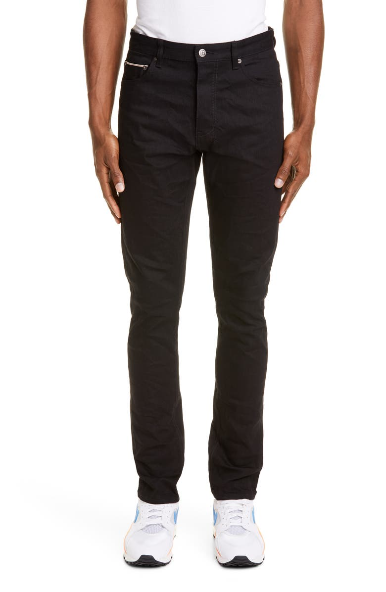 KSUBI Chitch Black Skinny Fit Selvedge Jeans, Main, color, 001