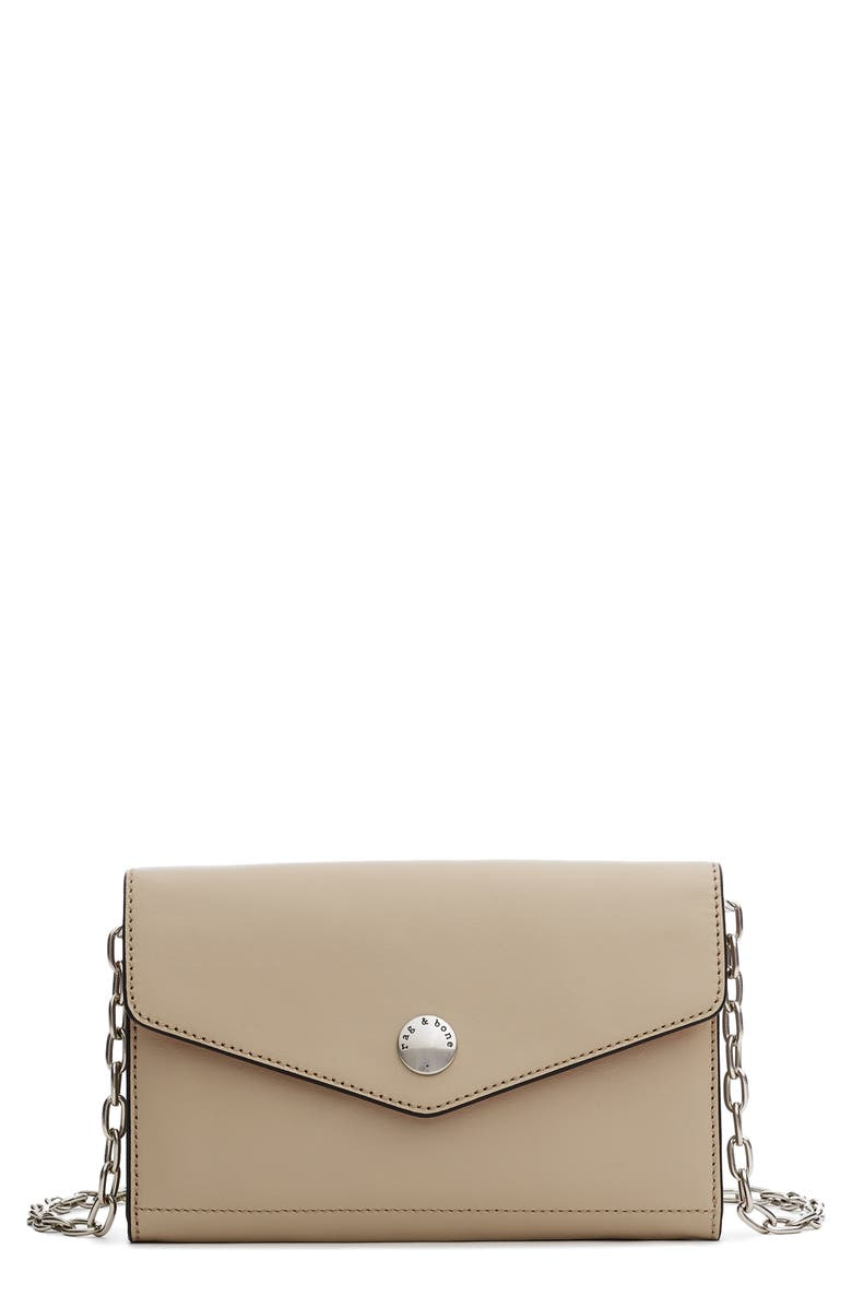 RAG & BONE Atlas Leather Wallet on a Chain, Main, color, DESERT