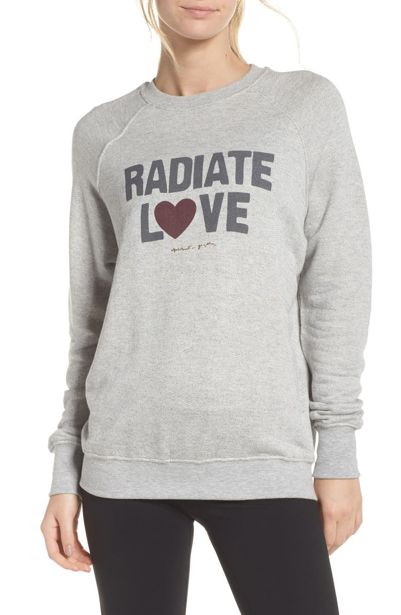 SPIRITUAL GANGSTER Radiate Love Sweatshirt, Main, color, 030