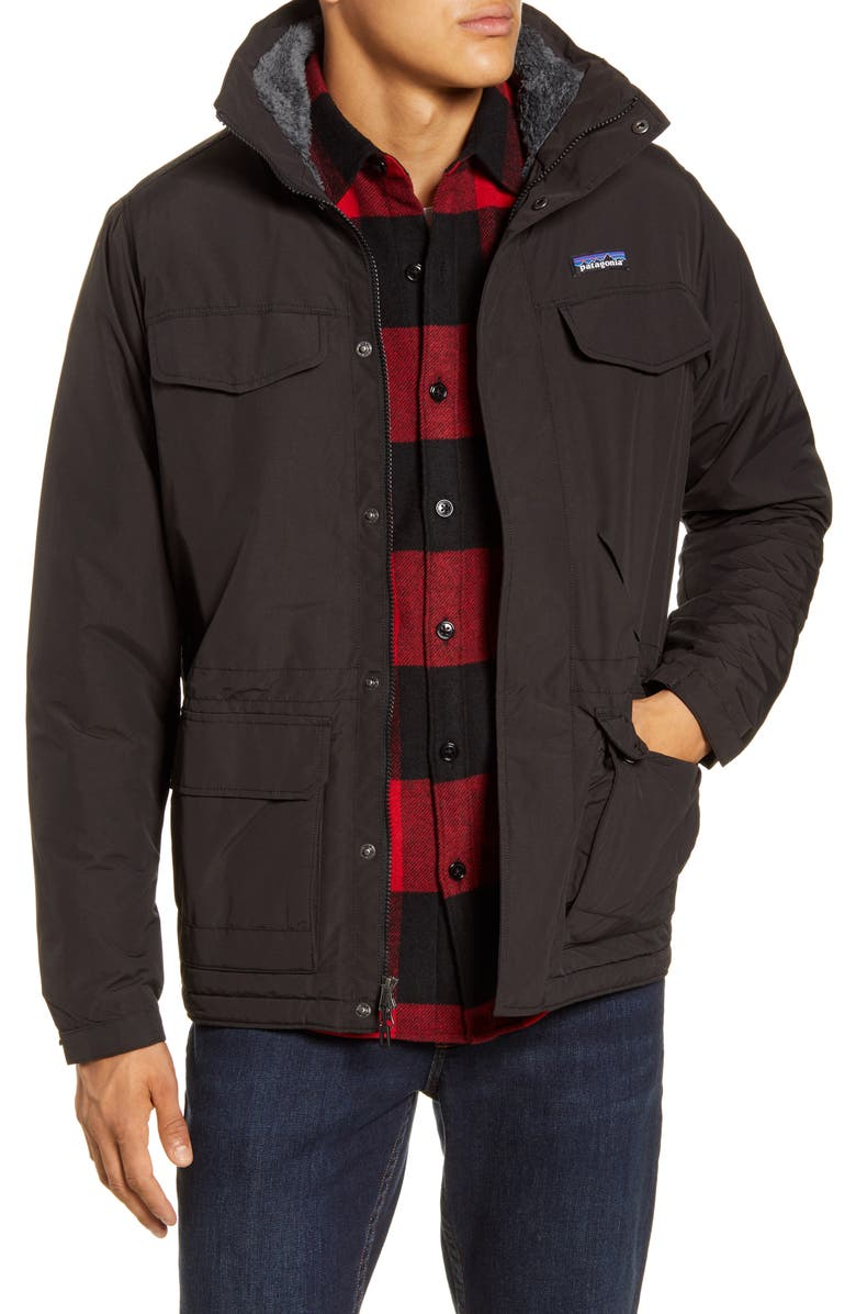 PATAGONIA Isthmus Wind Resistant Water Repellent Hooded Parka, Main, color, 001