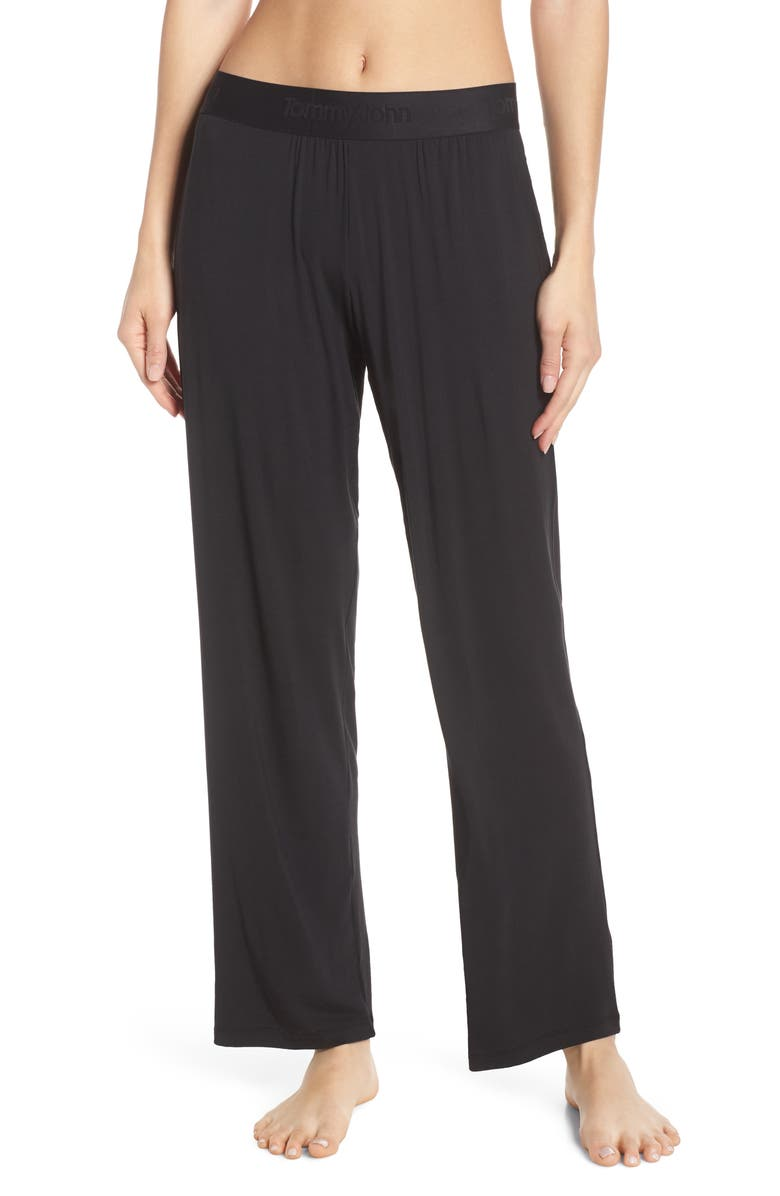 TOMMY JOHN Second Skin Lounge Pants, Main, color, BLACK