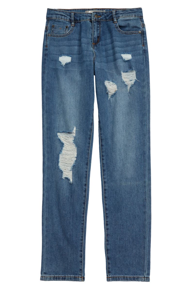 TRACTR Ripped Jeans, Main, color, INDIGO