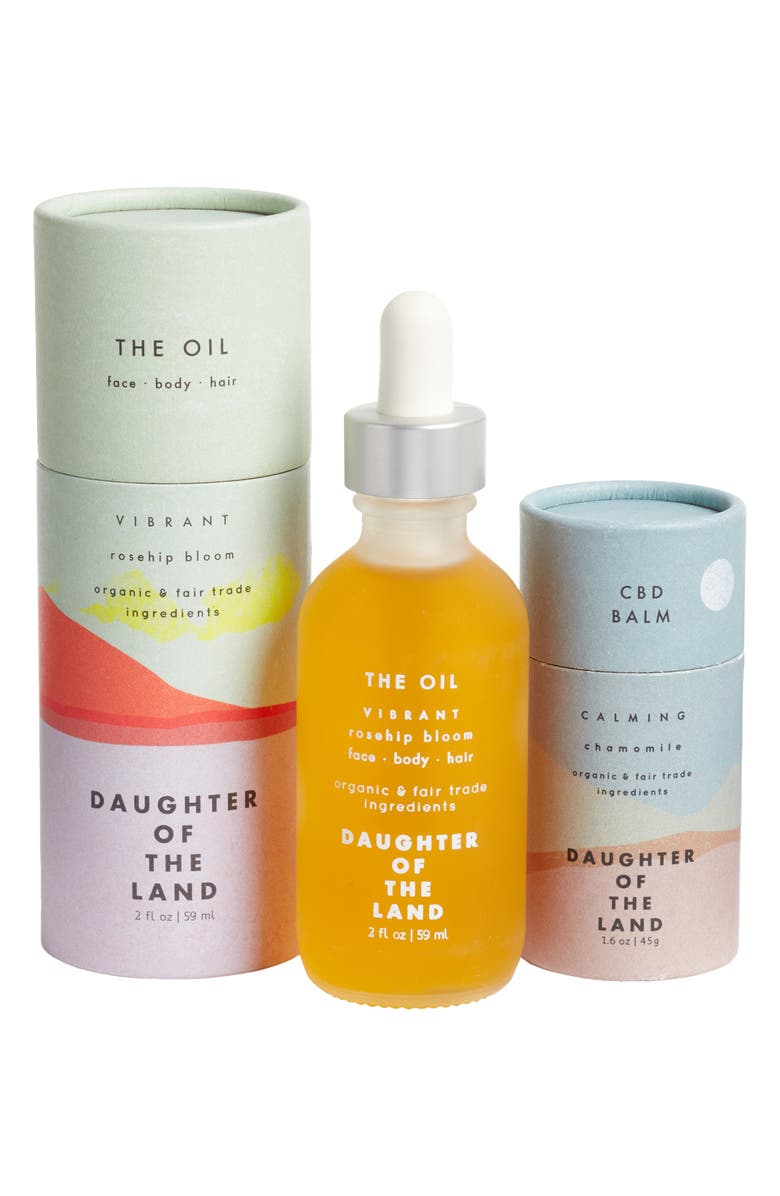 DAUGHTER OF THE LAND Package Free x Daughter of the Land The Oil & CBD Balm Set, Main, color, MULTI