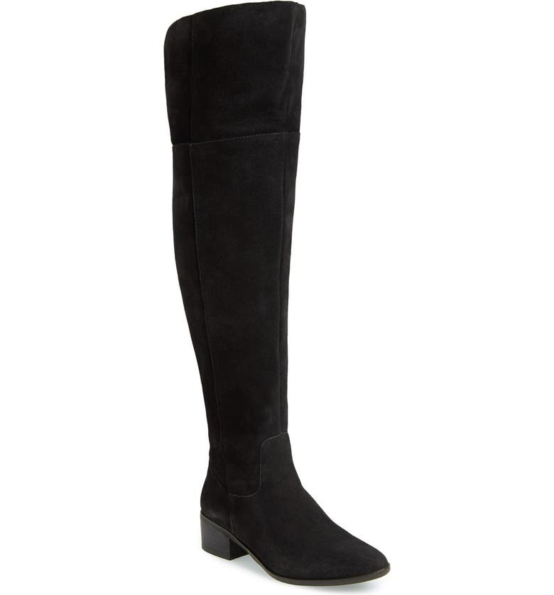 STEVE MADDEN Suede Over the Knee Boot, Main, color, 006