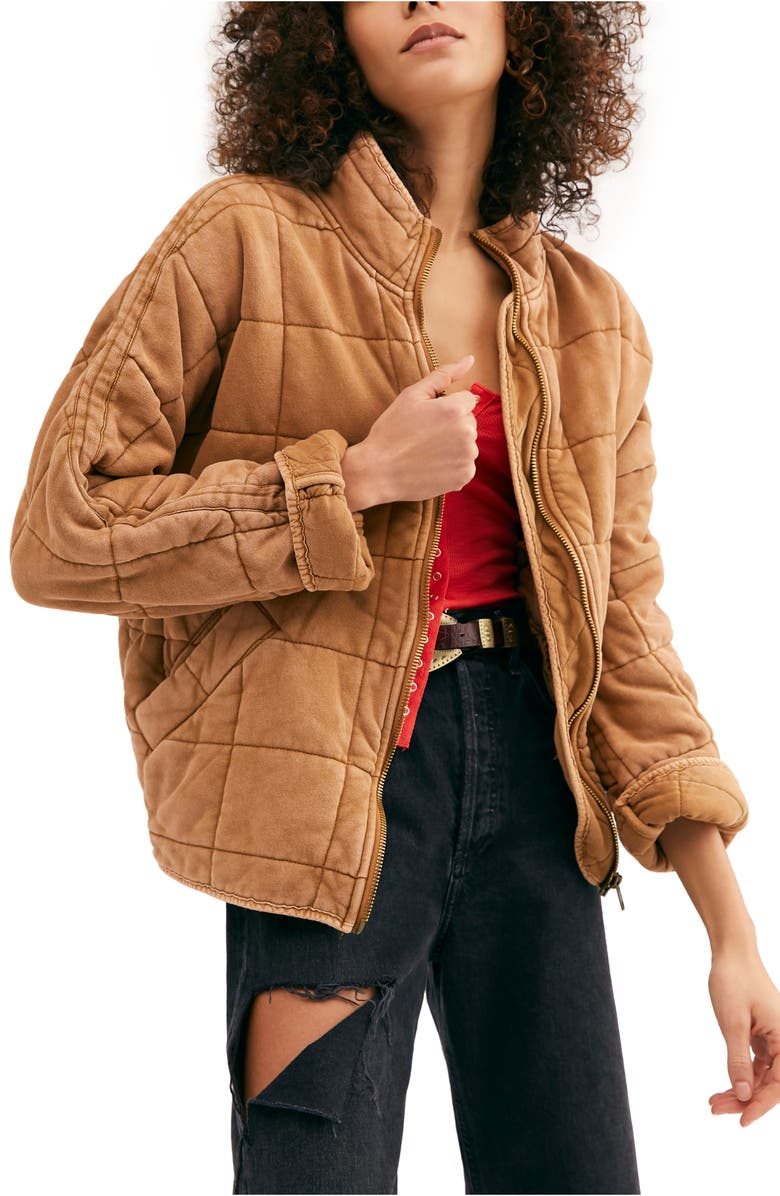 FREE PEOPLE Dolman Sleeve Quilted Jacket, Main, color, 200