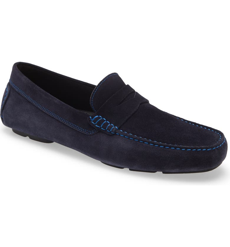 TO BOOT NEW YORK Driving Shoe, Main, color, BLUE SUEDE