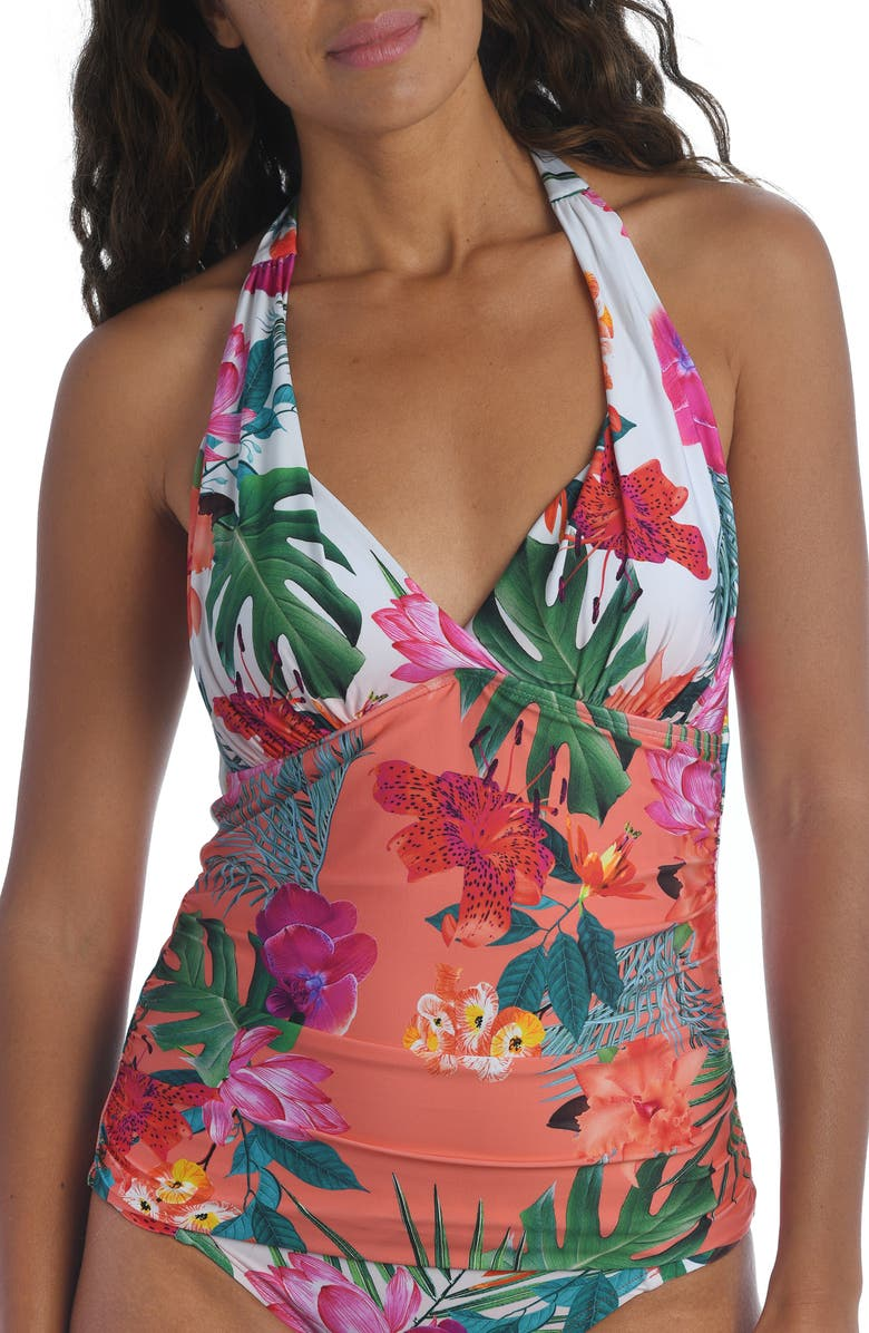 LA BLANCA Tropicalia Tankini Top, Main, color, BIRD OF PARADISE