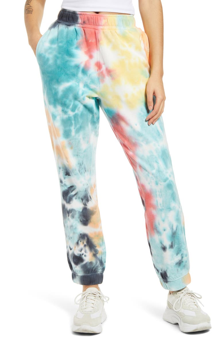 AFRM Costa Tie Dye Joggers, Main, color, ABSTRACT MULTI TIE DYE