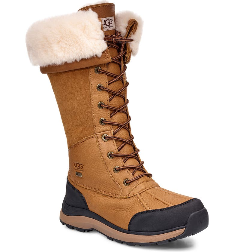 UGG<SUP>®</SUP> Adirondack III Waterproof Tall Boot, Main, color, CHESTNUT