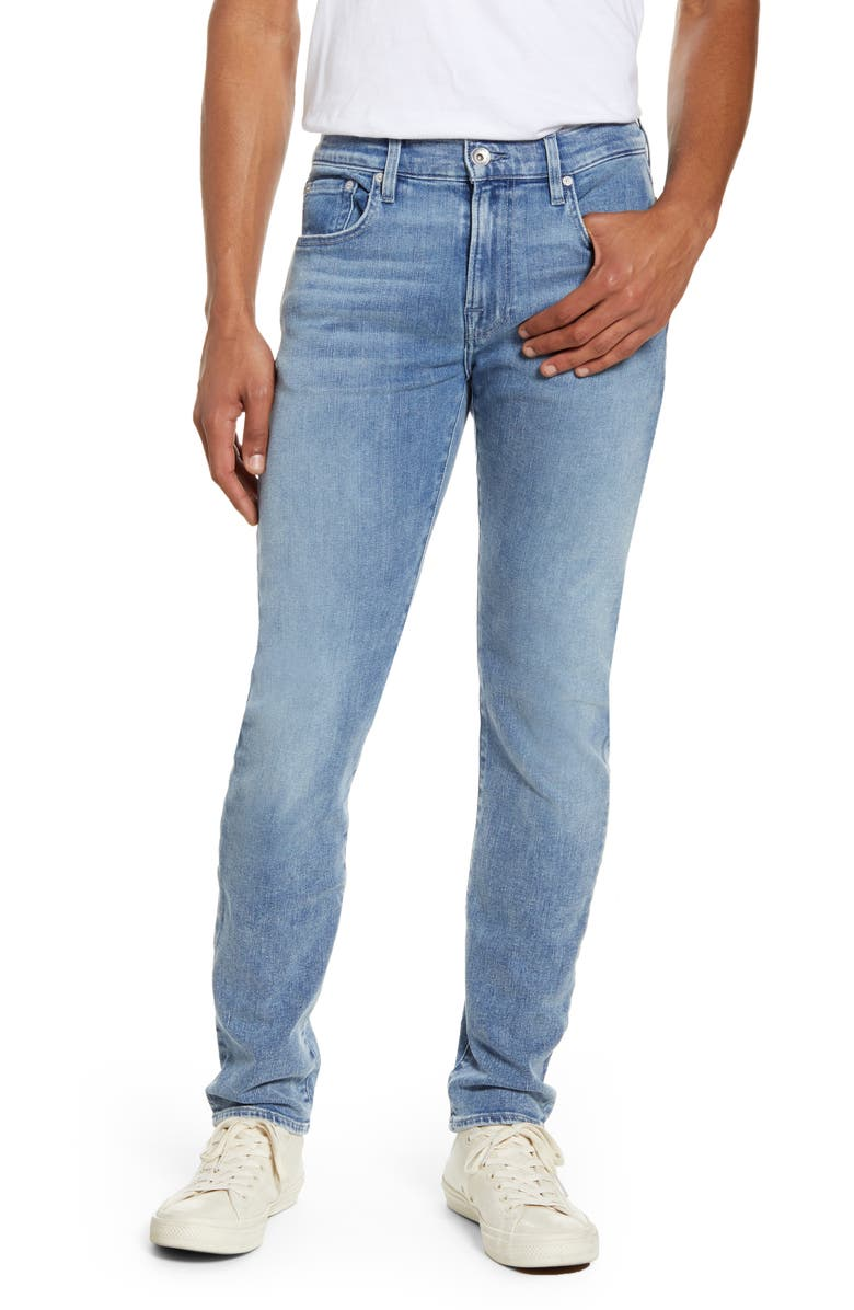 7 FOR ALL MANKIND<SUP>®</SUP> Adrien Slim Fit Clean Pocket Skinny Jeans, Main, color, BIGNELL