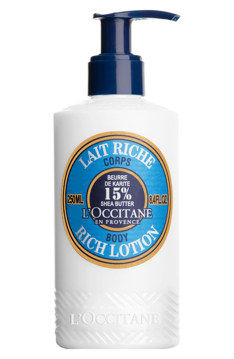 L'OCCITANE Shea Butter Rich Body Lotion, Main, color, 000