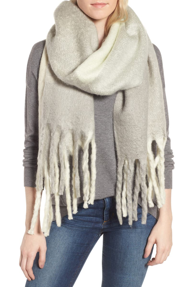 FREE PEOPLE Cameron Plaid Fringe Scarf, Main, color, 400