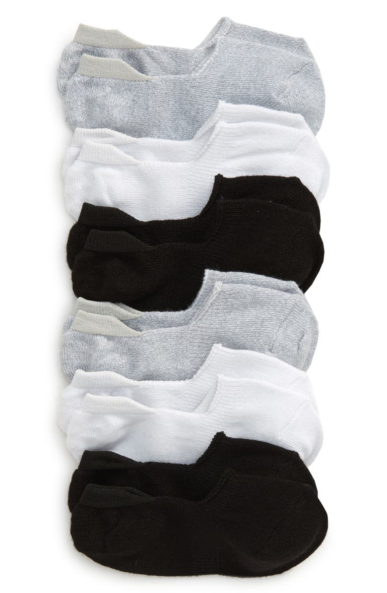 TUCKER + TATE Kids' Assorted 6-Pack Liner Socks, Main, color, BLACK MULTI