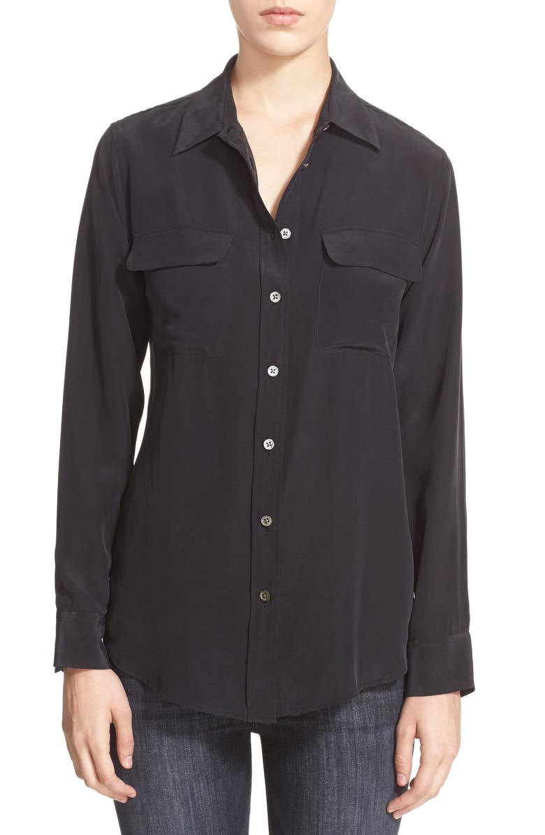 EQUIPMENT 'Slim Signature' Silk Shirt, Main, color, 003