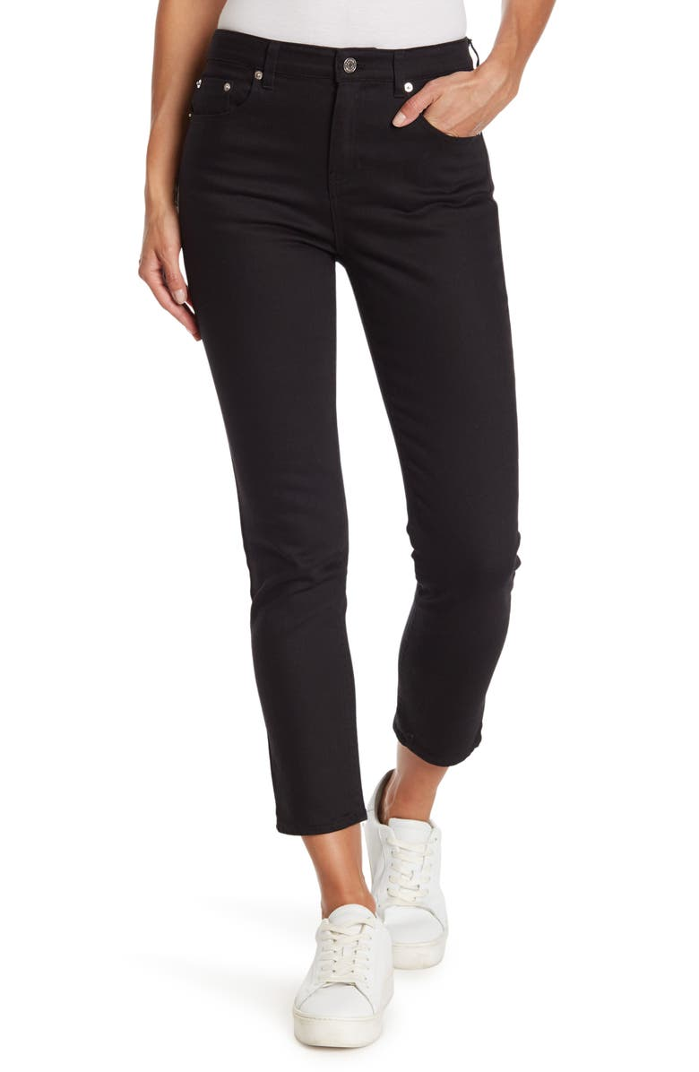 THAKOON Classic Cropped Jeans, Main, color, BLACK