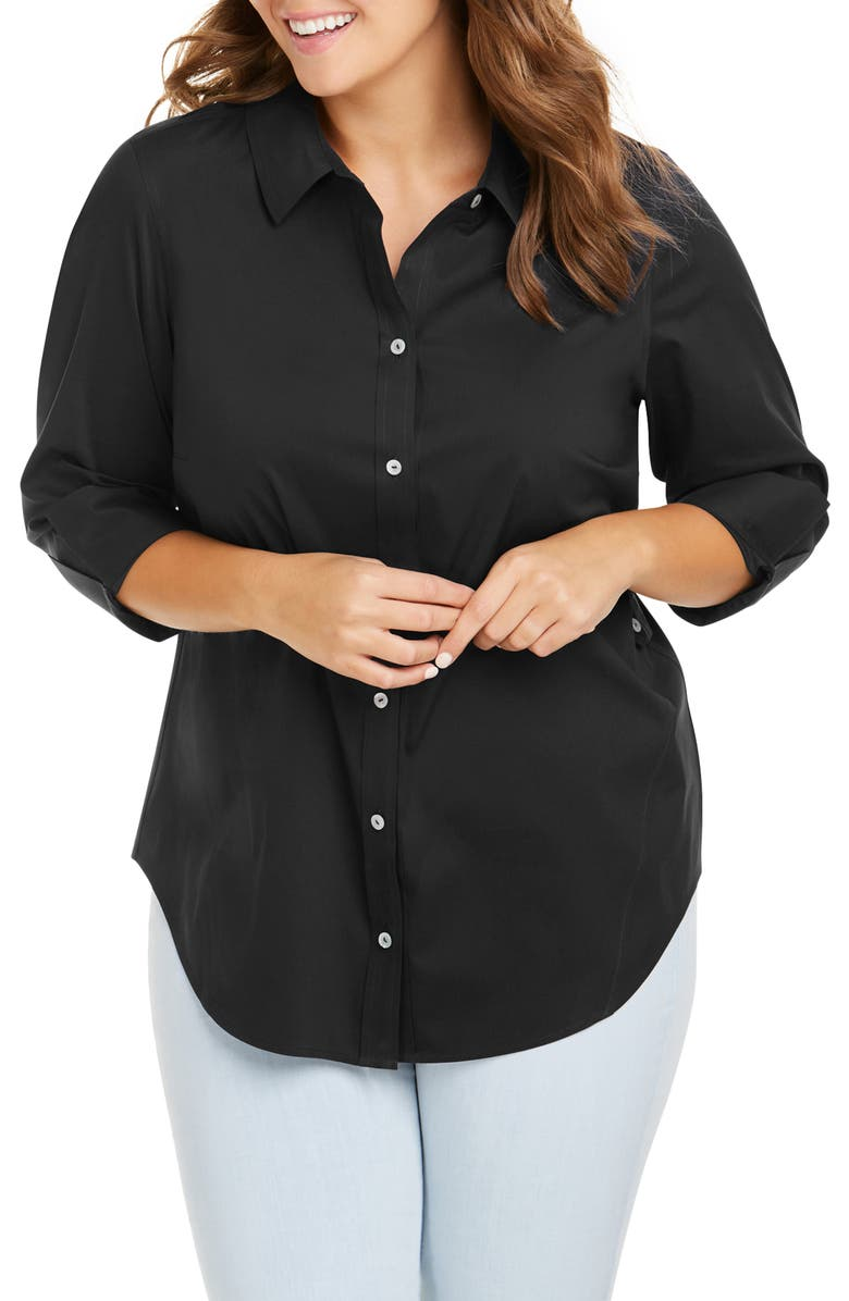 FOXCROFT Marianne Stretch Tunic Shirt, Main, color, 001