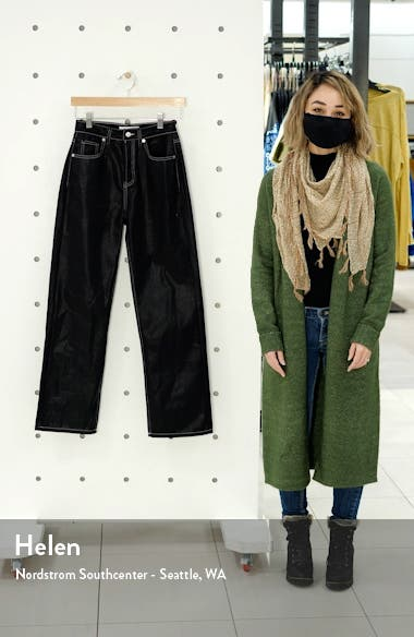 Coated High Waist Trouser Jeans, sales video thumbnail