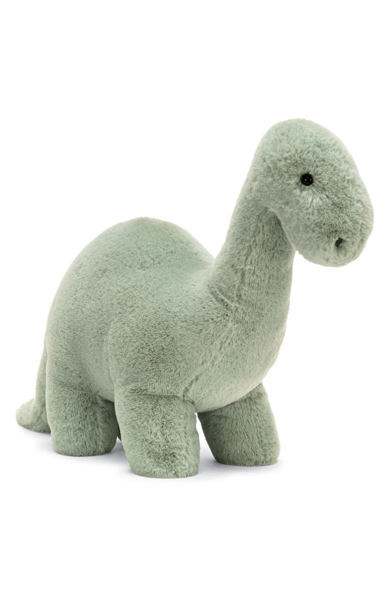JELLYCAT Fossilly Brontosaurus Stuffed Animal, Main, color, Green