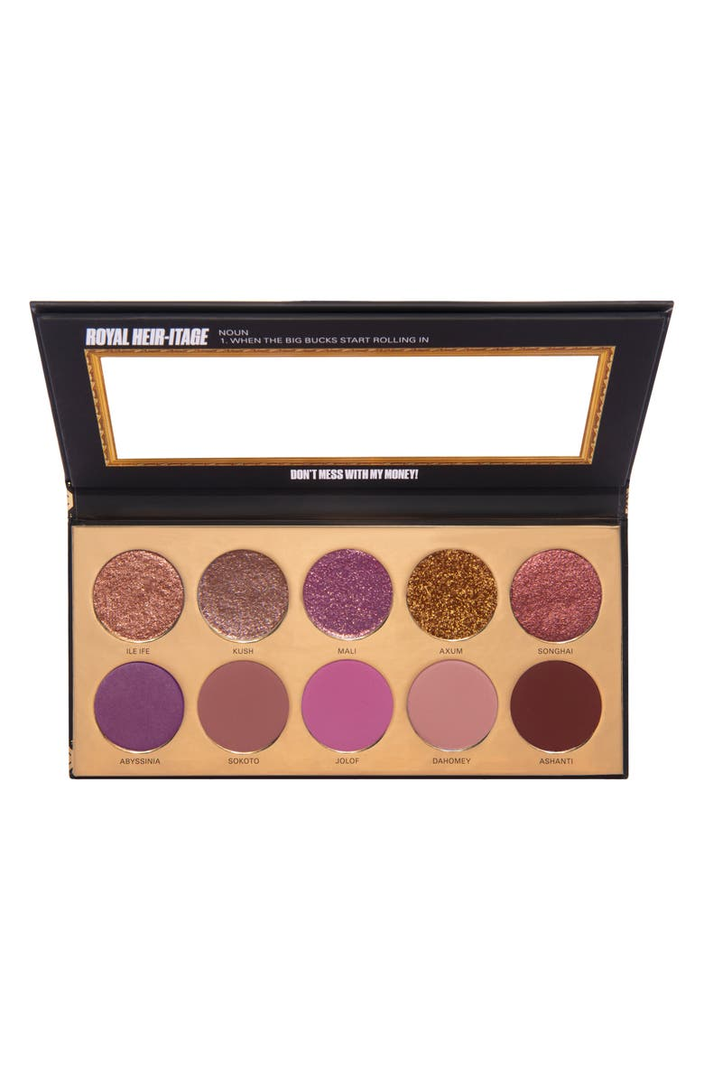 UOMA BEAUTY Black Magic 'Coming 2 America' Royal Heir-itage Color Palette, Main, color, ROYAL HERITAGE