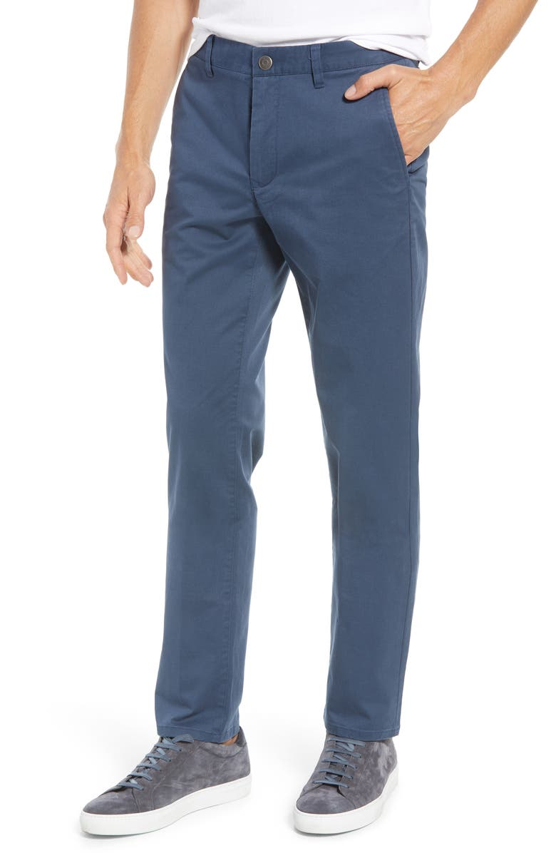 BONOBOS Slim Fit Stretch Washed Chinos, Main, color, STEELY
