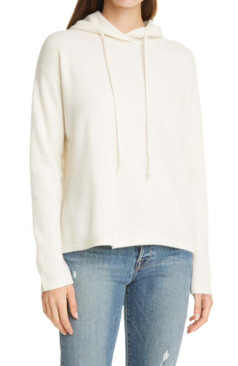 NORDSTROM SIGNATURE Cashmere Hoodie, Main, color, IVORY SOFT