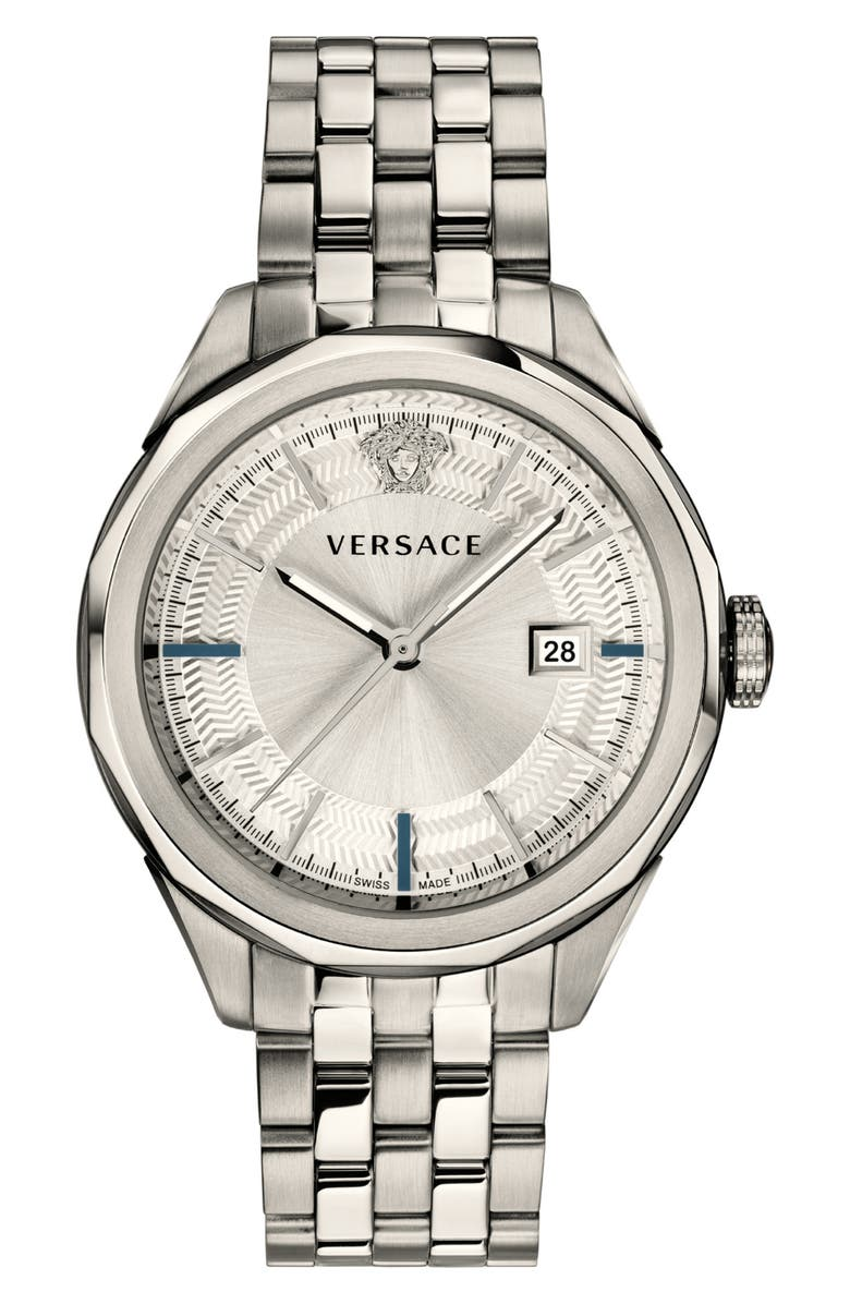 VERSACE Glaze Bracelet Watch, 43mm, Main, color, 040