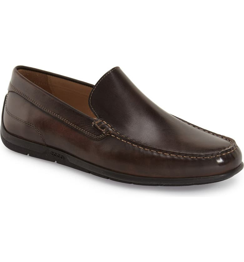 ECCO Classic Moc II Venetian Loafer, Main, color, COFFEE LEATHER