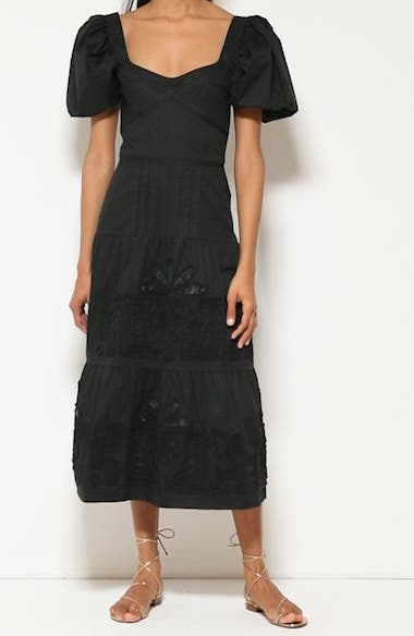Unchanging Legacy Embroidered Puff Sleeve Dress, video thumbnail