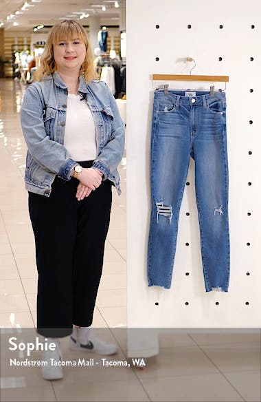 Hoxton Ripped High Waist Ankle Skinny Jeans, sales video thumbnail