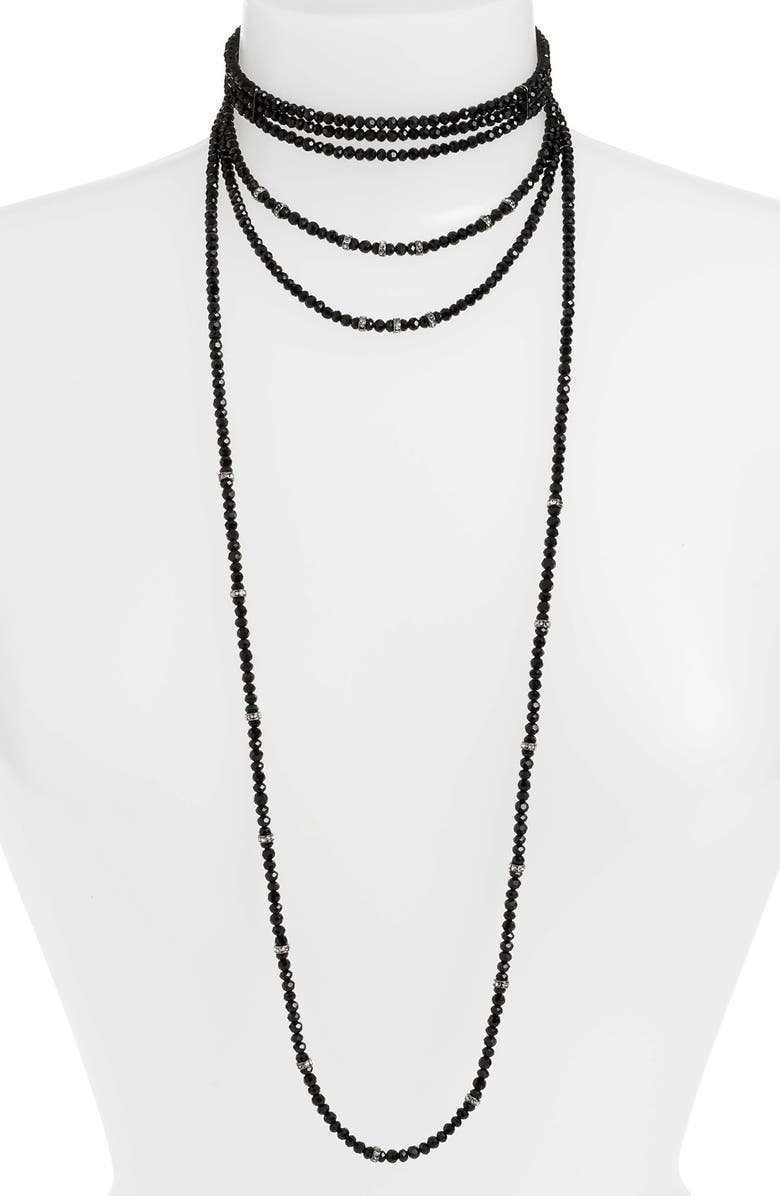 CRISTABELLE Crystal Choker Necklace, Main, color, 002