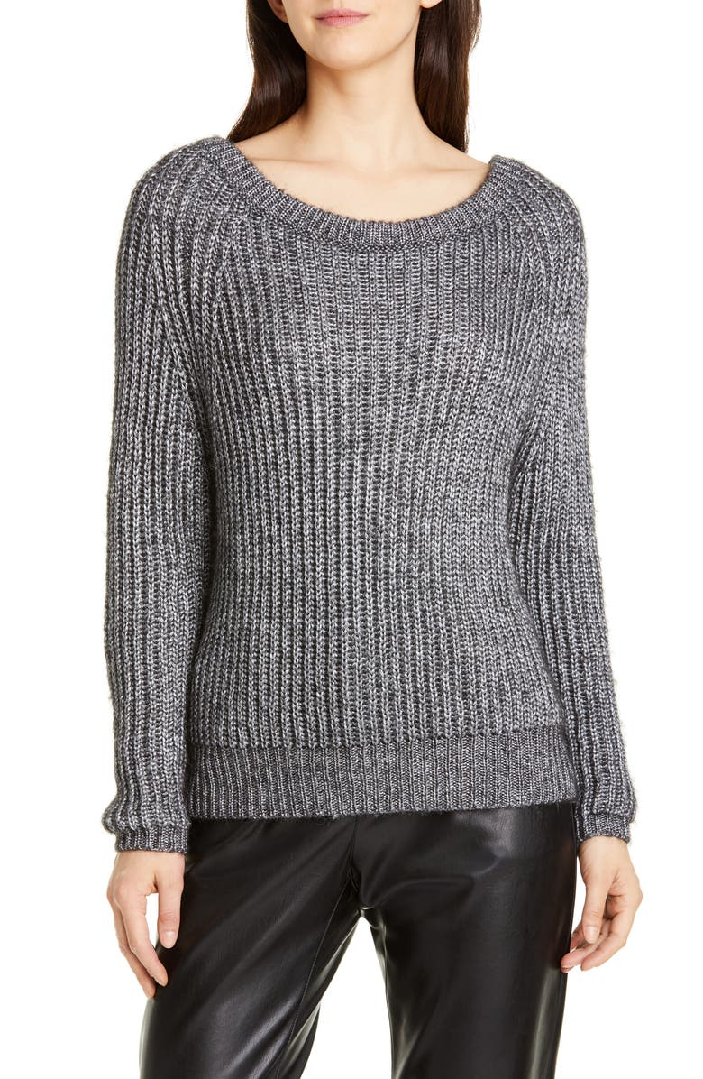 SEVENTY VENEZIA Seventy Shaker Stitch Sweater, Main, color, 020
