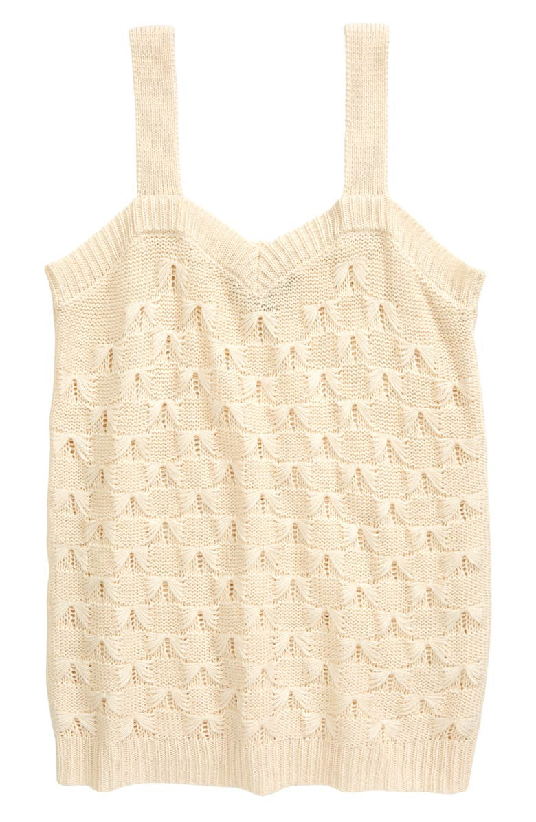 FRESHMAN Kids' Pointelle Sweater Tank, Main, color, BLANK CANVAS