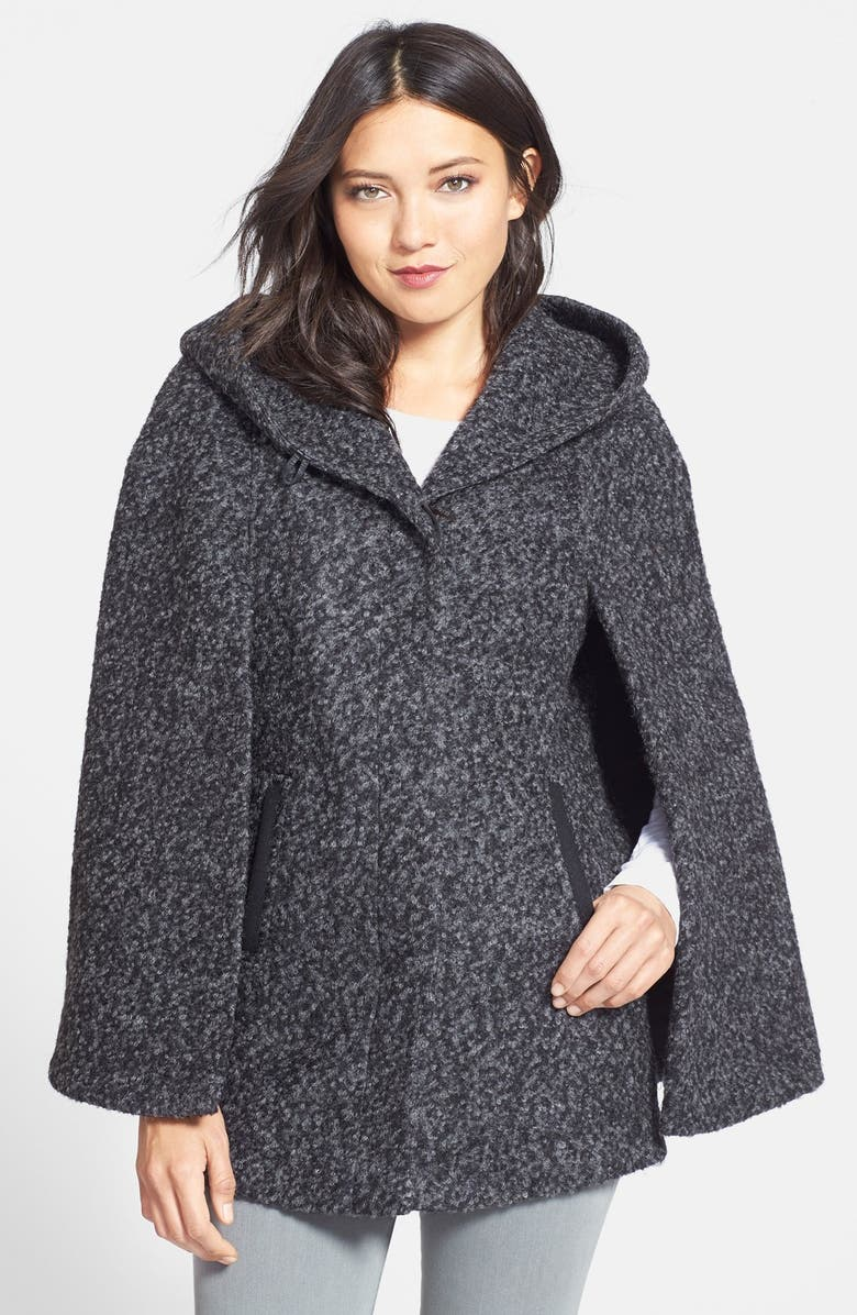 SOIA & KYO Hooded Cape, Main, color, Black